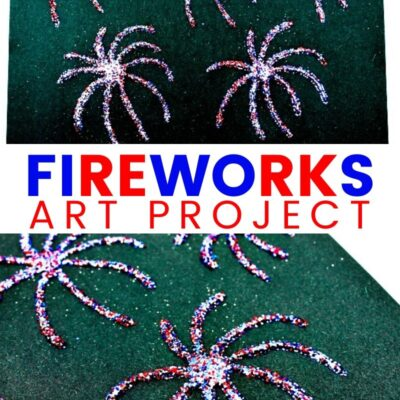Fireworks Art Project for Preschoolers