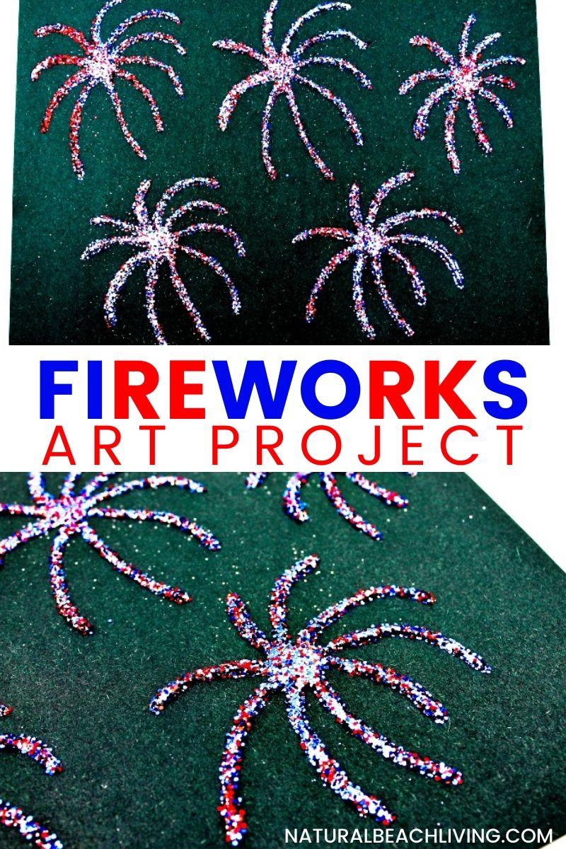 Fireworks Art Project for Preschoolers