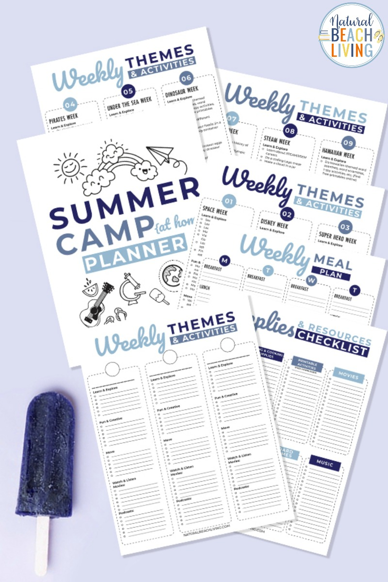 Summer Camp at Home Planner Printables