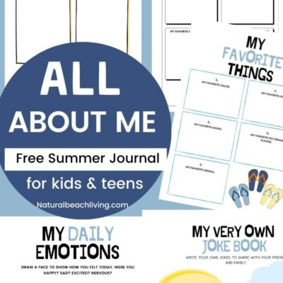 All About Me Summer Journal for Kids and Teens