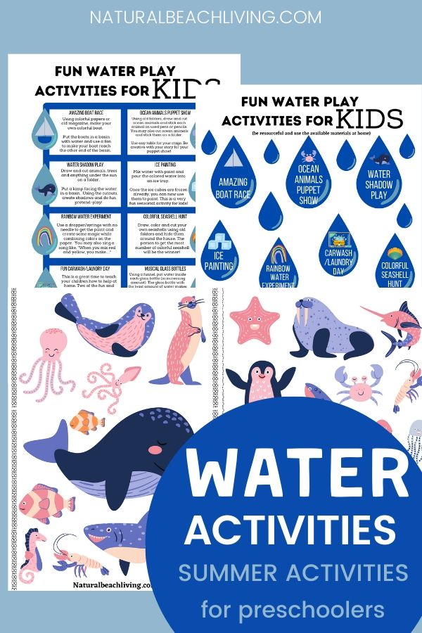 These water activities for kids are a great way to beat the heat this summer and have fun with incredible backyard water activities. These refreshing summer activities are perfect for toddlers to teens. DIY Splash Balls, Ice Painting, and lots of fun water theme ideas with free printables. playing with water and learning at the same time!