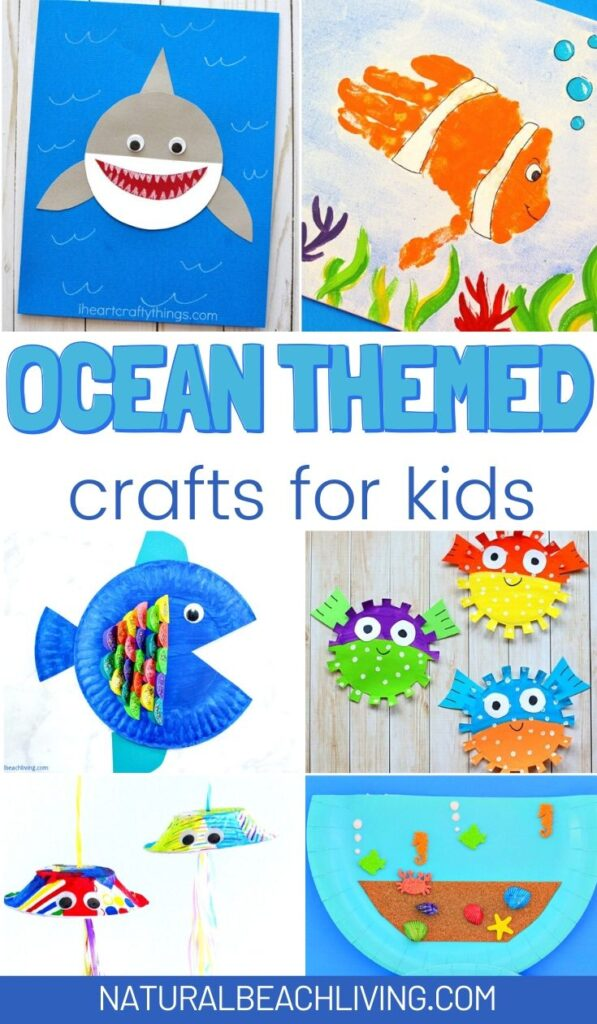 Looking for fun activities for your kids this Summer? Check out these 25+ Ocean Crafts for Kids! These sea life crafts make a great Preschool Craft with lots of wonderful topics and ocean animals to explore