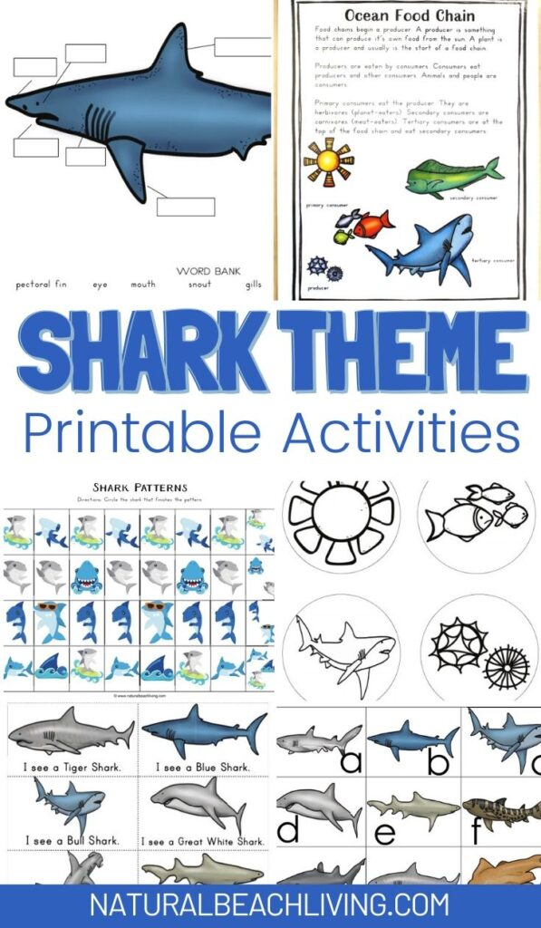 The Best Shark Printable Activities for Kids, Get ready for Shark Week with a Shark Unit Study and Shark Lesson Plans, These Shark Week Ideas have Alphabet Activities, Shark Facts, and Preschool Printables, shark games. Plus, Shark printables and Writing Prompts