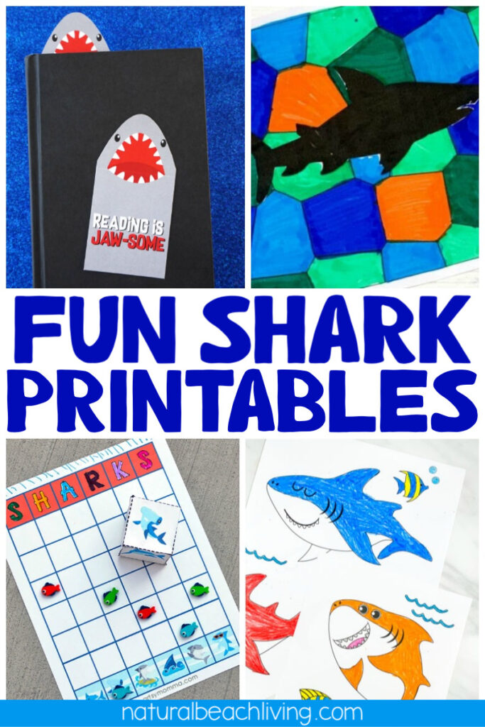 33+ Shark Printables for Kids. Need some easy ways to make Shark Week Fun with kids? These shark printables and shark templates are full of activities, crafts, shark facts, games & coloring pages for any Ocean Theme or shark week activities