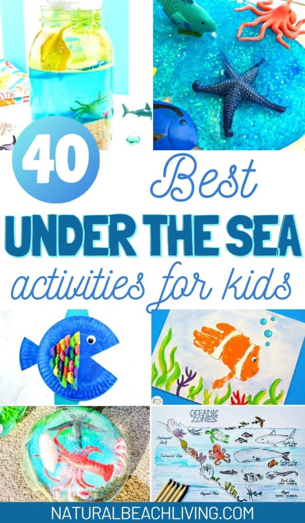40+ Under The Sea Activities Your Kids will Love, This page is full of under the sea activities for preschoolers, Ocean Slime, Ocean Science Experiments for kids, Ocean Animals Activities, Under the Sea Snack Ideas, Ocean themed Free Printables, Under the Sea Theme ideas, Shark Week Activities for Kids and More