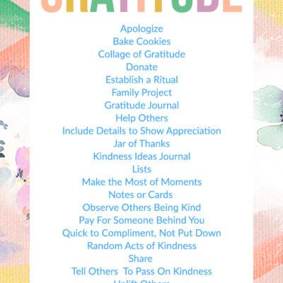 Alphabet Gratitude List to Help Practice Daily Gratitude