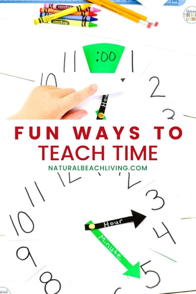 How to Teach Telling Time to kids with Activities for Teaching Time and an Easy Clock Activity, Use this DIY learning clock to help teach your kids to tell time. It perfect for hands on activities to Teach Time, Your kids will love these Fun Ways to Teach Time
