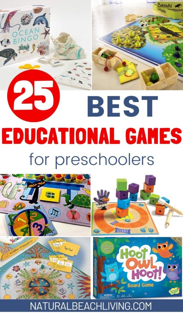 25+ Educational Games for Preschoolers, Learn Letters, numbers, shapes, math and more! Hands on learning games Introduce preschool essentials with GREAT educational games, board games, and toys your kids will love to play.