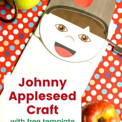 Johnny Appleseed Craft Paper Bag Puppet
