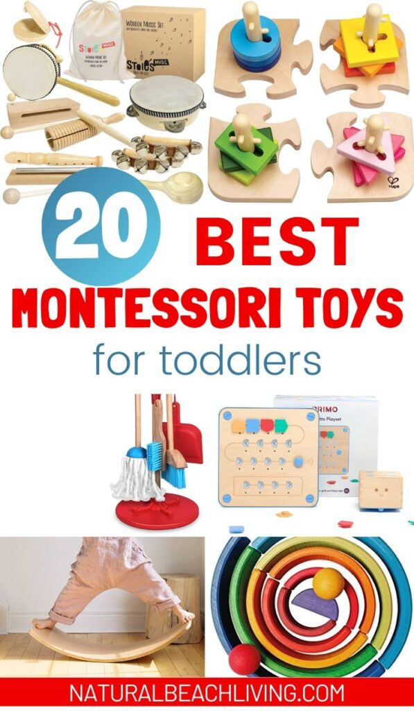 These Montessori Toys for Toddlers are tools for learning, that include educational toys for your child's development. 20 of The Best Montessori Toys, Plus, Montessori Toy Rotation and where to buy Montessori Toys.
