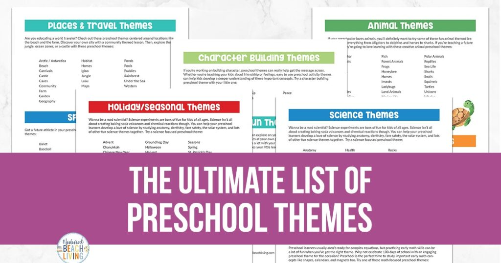 Find over 200 of The Best Preschool Themes and Preschool Lesson Plans, Whether you need ideas for alphabet activities, 100th Day of School. All About Me, Apples,  Transportation Theme, Beach theme, Fall Theme, Spring themes, Fall Leaves. Farm, Feelings. Use thematic unit studies to engage children in learning. Themes for Preschool and Kindergarten, Tons of Pre-K activities and Preschool Topics