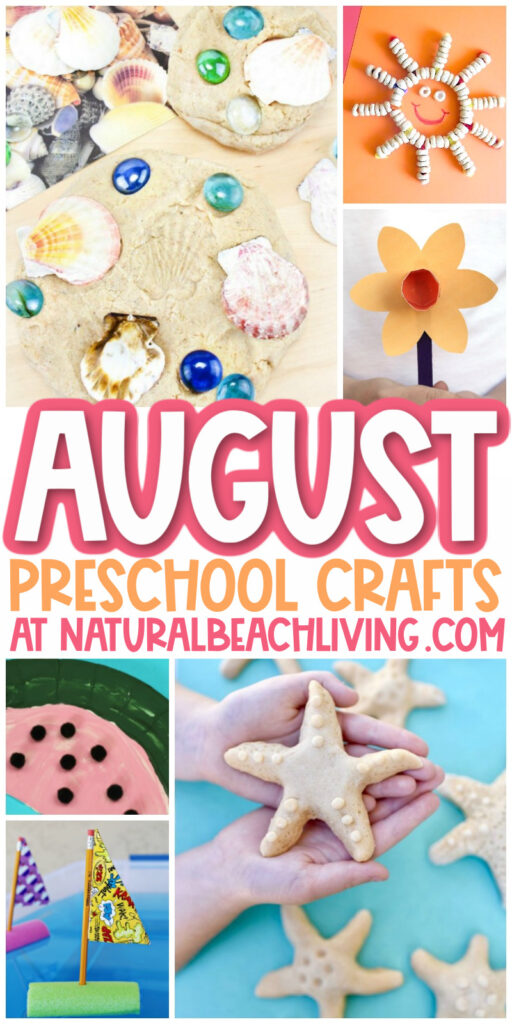40+ August Preschool Crafts From pencil crafts for back to school season or lots of fun insect crafts, boats, sand playdough, and seashells crafts, you'll find the Best August Arts and Crafts Activities for Kids and Summer Crafts for Preschoolers
