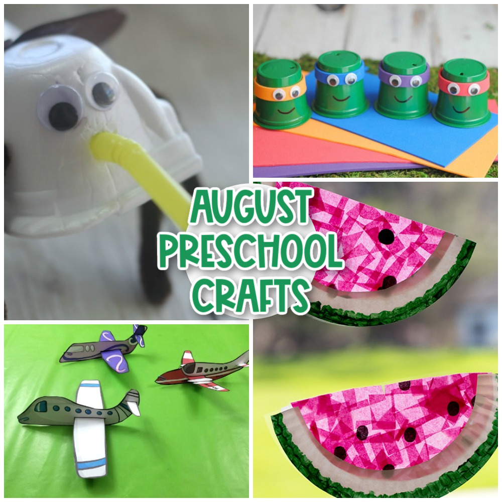 August Preschool Crafts From pencil crafts for back to school season or lots of fun insect crafts, boats, sand playdough, and seashells crafts, you'll find the Best August Arts and Crafts Activities for Kids and Summer Crafts for Preschoolers