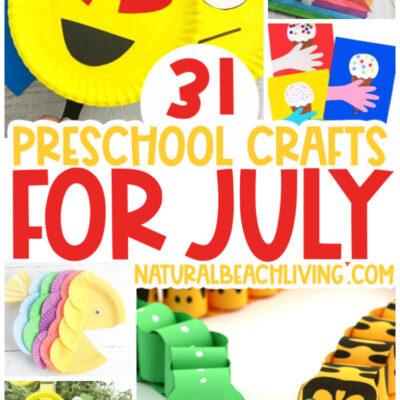 40+ July Preschool Crafts – Summer Art and Craft Activities