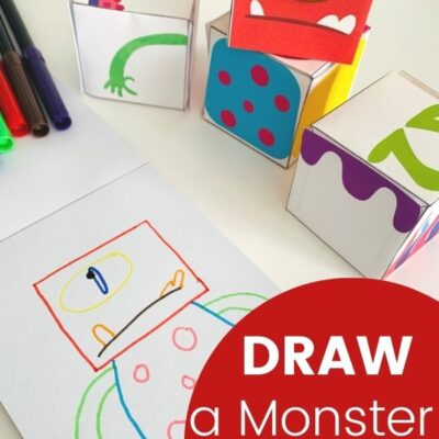 Monster Drawing Activity Printables and Monster Theme Activities