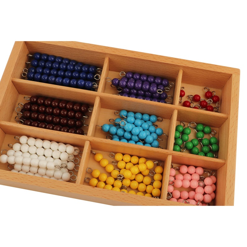 Montessori Math Bead Stairs, Montessori Mathematics and education activities