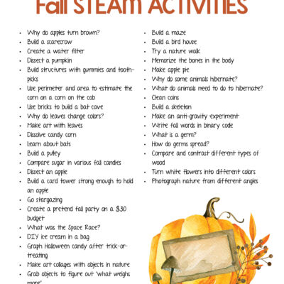 Fall STEAM Activities for Kids – STEM Lesson Plan Ideas and Free Printable