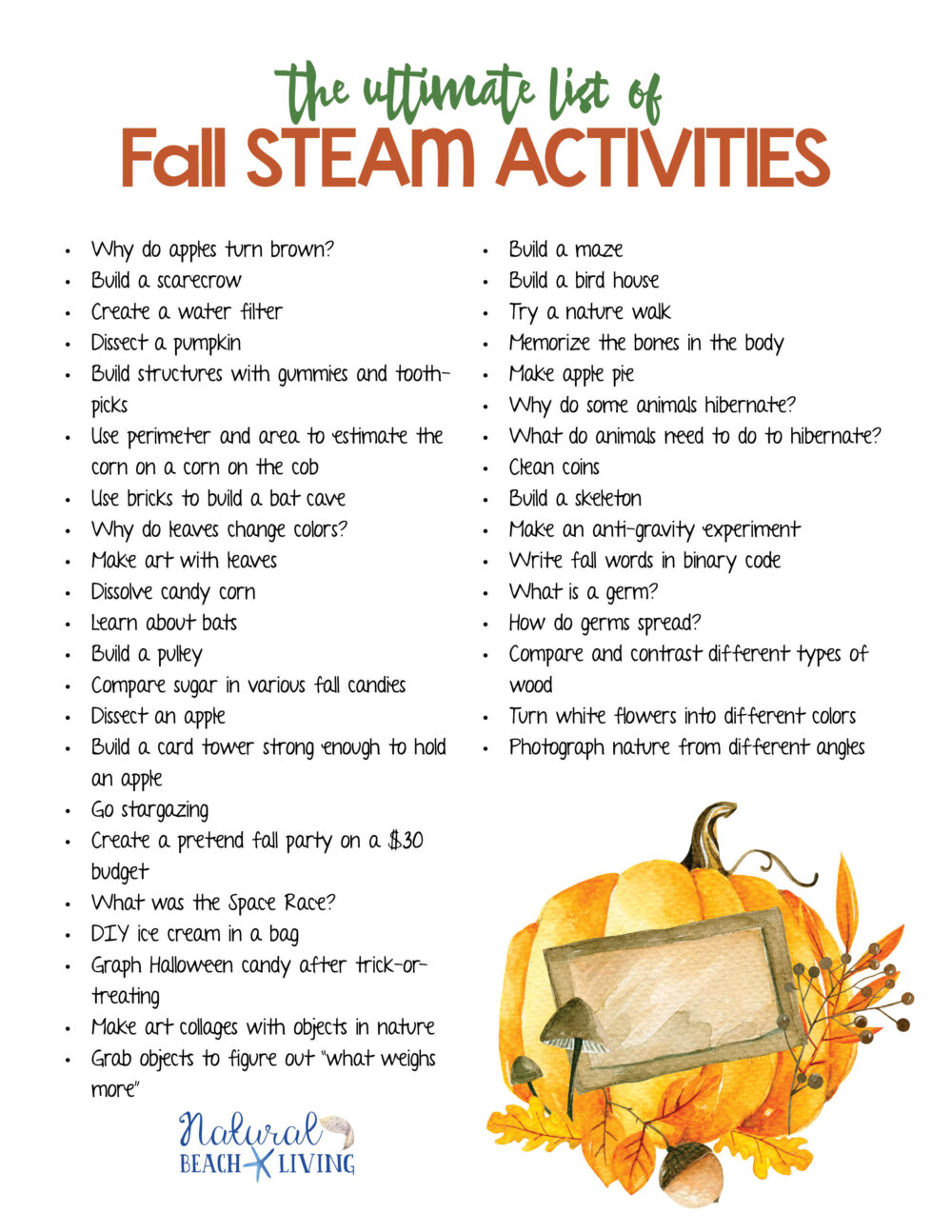 Fall Steam Activities For Kids Stem Lesson Plan Ideas And Free Printable Natural Beach Living