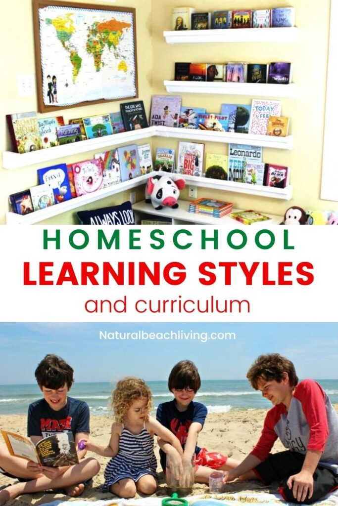 Homeschooling Students With Different Learning Styles like Visual, Auditory and Kinesthetic. Plus The Best Homeschool Curriculum and resources for each learning style. Homeschool Methods and Tips for every learner