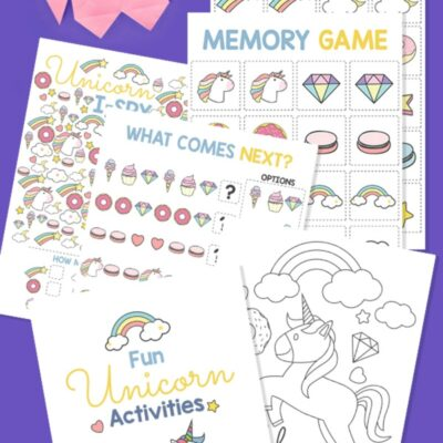 Unicorn Activities Printables for Kids