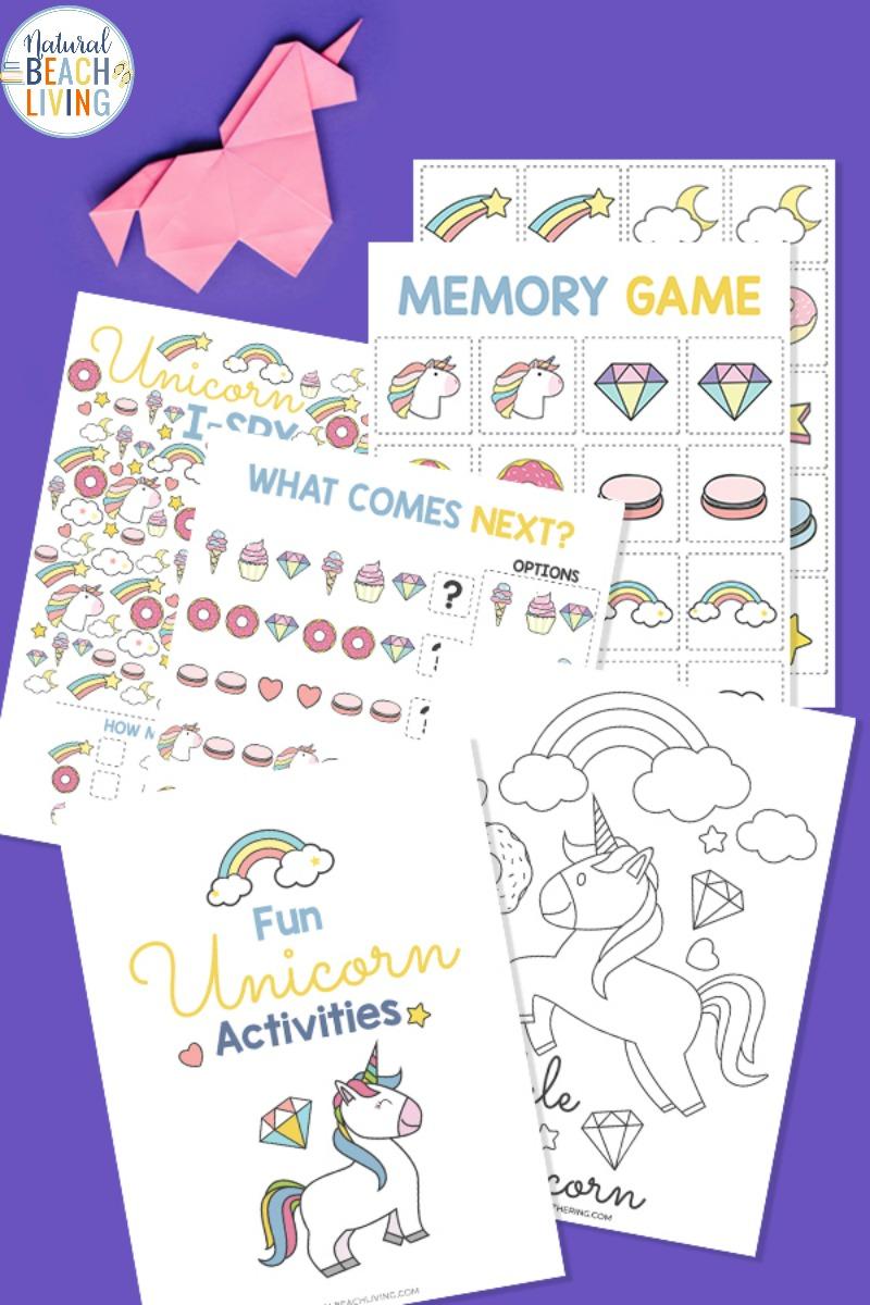 Unicorn Activities Printables for Kids