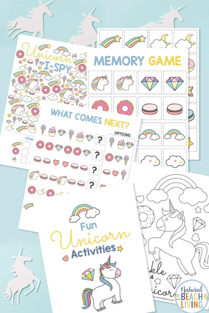 Unicorn Activities Printables for Kids, Practice Skills and Have Fun with these magical Unicorn Activities, find super cute and free Unicorn Activities to Print, with Unicorn Coloring Pages, Games, and perfect ideas for a Unicorn Theme or Unicorn Activities for a Party