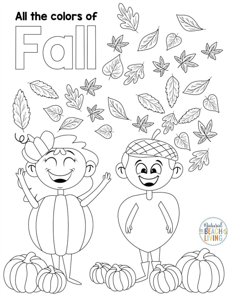 Free Fall Printables for Preschool and Kindergarten, a variety of fall printable activity sheets for kids perfect for your fall lesson plans and adding to fall themes - fall coloring pages, fine motor, counting, literacy, math, and more