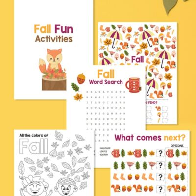 Free Fall Printables for Preschool and Kindergarten