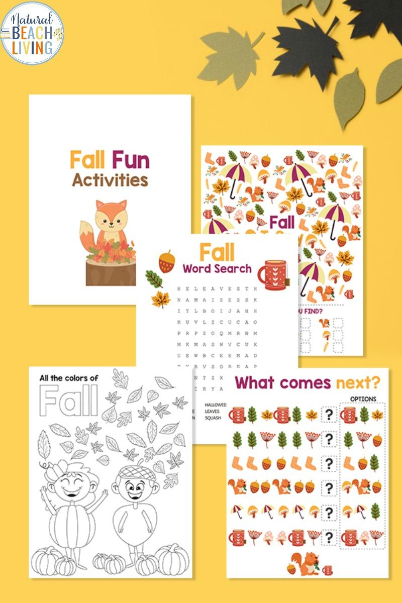 Free Fall Printables for Preschool and Kindergarten