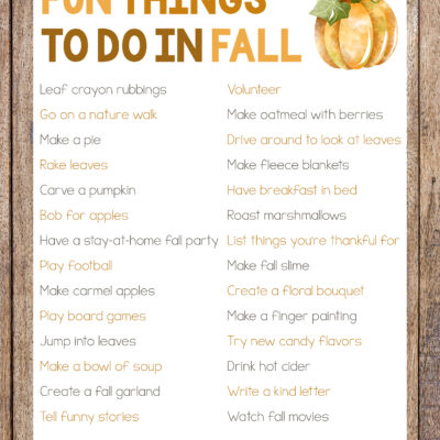 30+ Fun Things To Do In Fall for the Whole Family