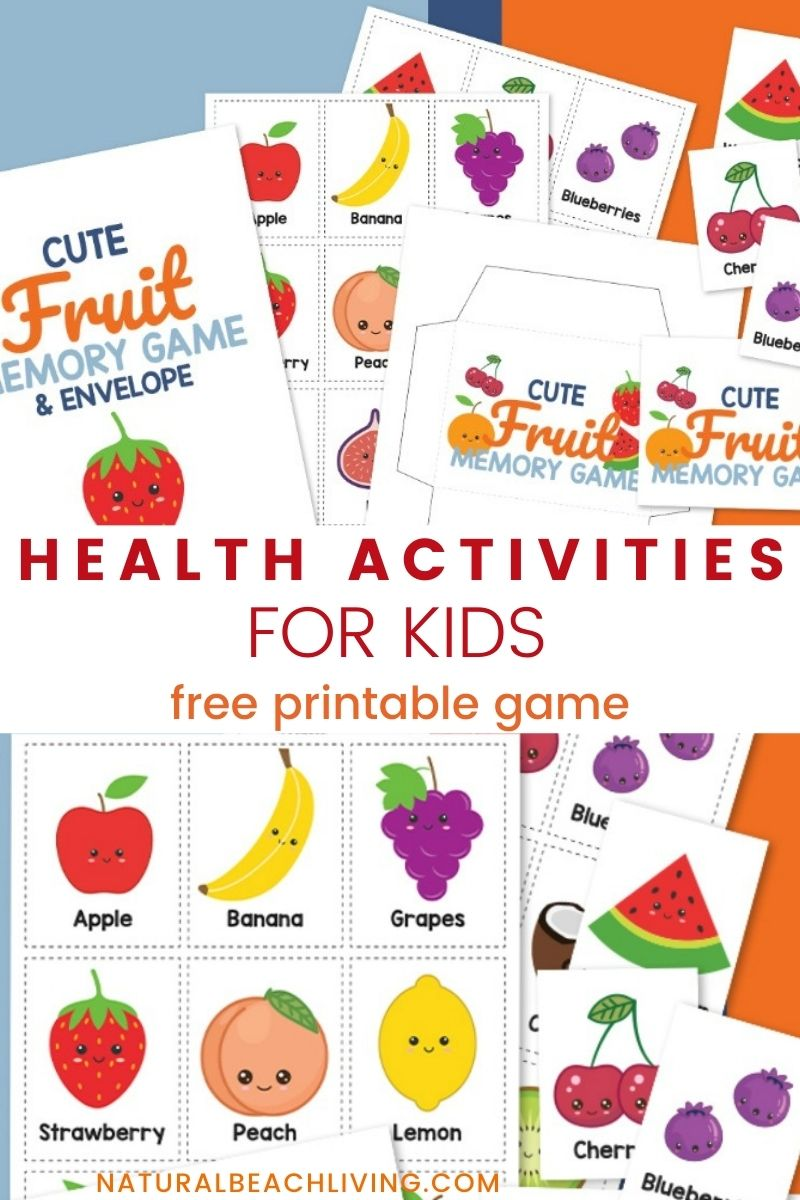 Fruit Matching Game Printable and Healthy Eating Activities for Kids