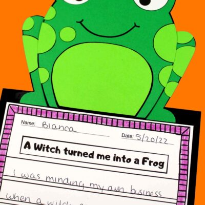 Halloween Frog Craft and Writing Prompt Activity