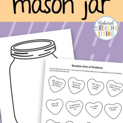 Kindness Jar Printable Template and Kindness Activity