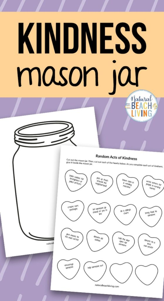 The Kindness Jar Printable is a fantastic way to teach kindness and perform kind deeds every day. You'll get Kindness Jar Slips with fun ideas and a Kindness Jar Template for the perfect Kindness Jar Project at home or in a classroom.