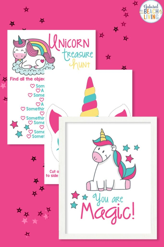 Unicorn Activities To Print For Birthday Party Or At Home Fun - Natural  Beach Living