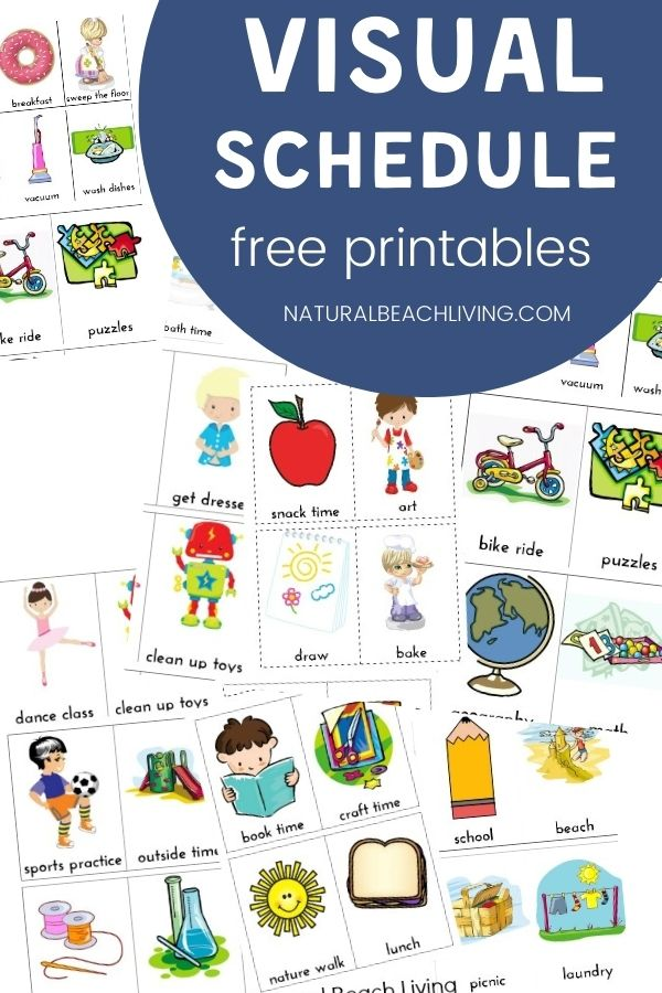 Free Visual Schedule for Kids, Visual schedules can increase independence and also reduce anxiety, Visual schedules use pictures to communicate a series of activities. They are often used to help children understand and manage daily events in their lives.