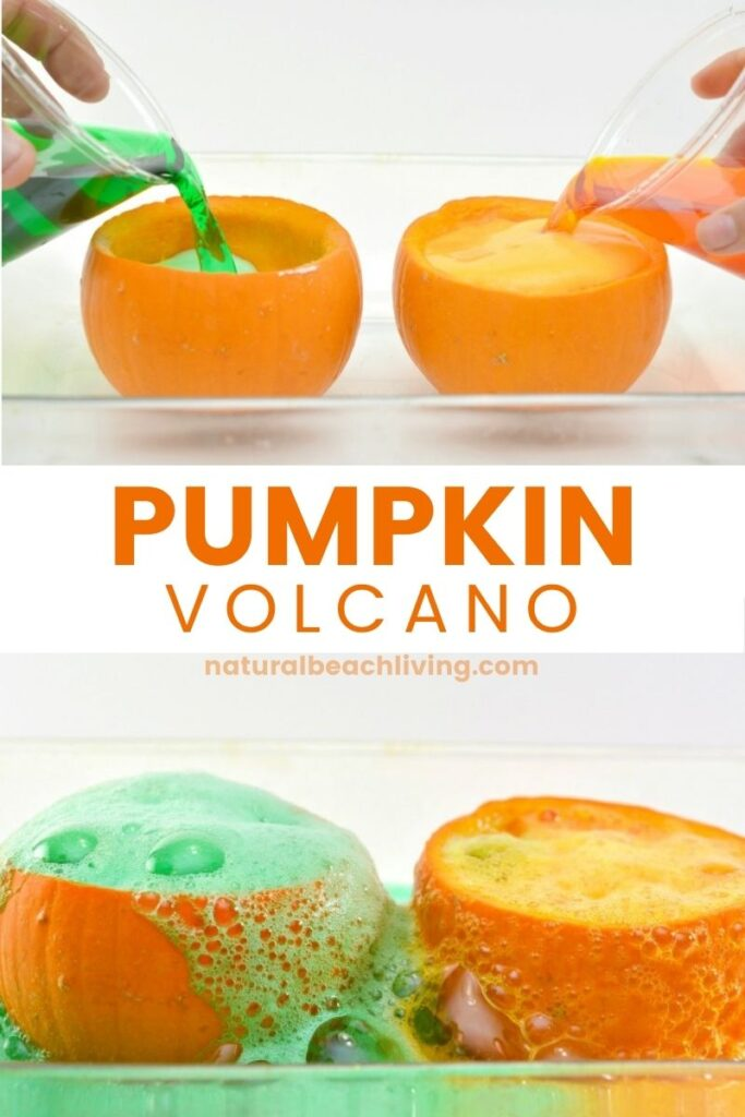 THE BEST Pumpkin Science Experiments and Pumpkin Volcano for Kids. Your Kids will love this exploding pumpkin experiment. Science Activities and Pumpkin Science Experiments are perfect for a fall theme for preschool and kindergarten, Add this Pumpkin Science to your Kids Science Table or Pumpkin Lesson Plans this fall.