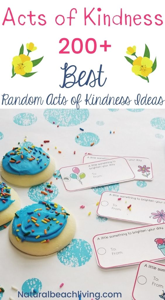 Want some practical ways to show kindness to others? Here are 200 of The Best acts of kindness ideas to bless others! Random Acts of Kindness for Kids and Adults.
