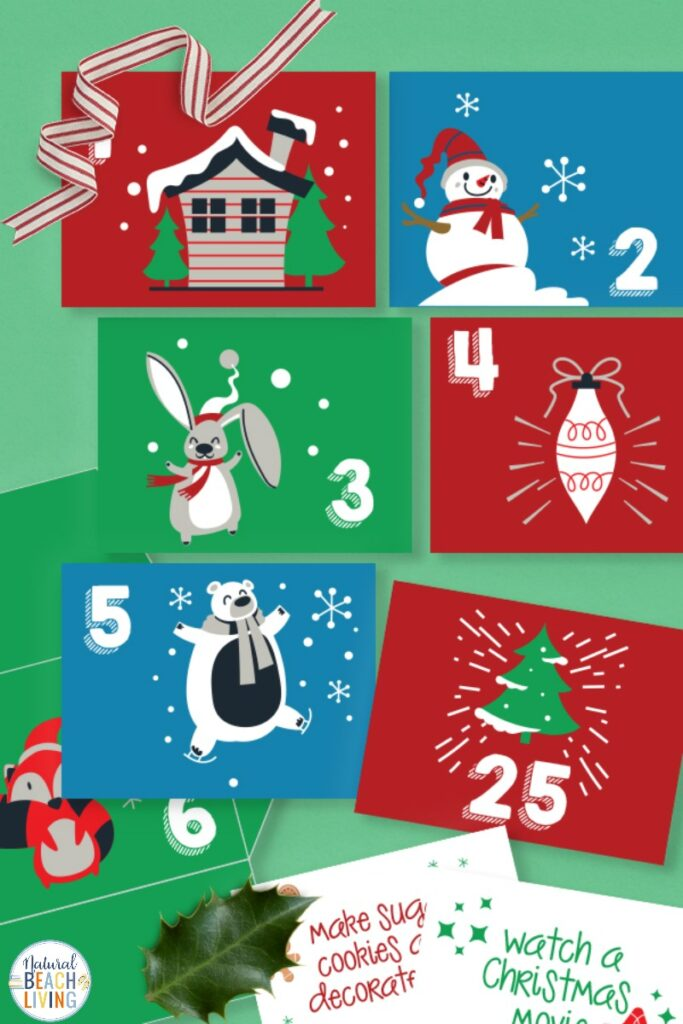 Fun and Free Christmas Advent Envelopes and Notes, These Homemade Advent Calendar Ideas are easy and make Christmas Planning exciting. Advent Calendar Activity Cards & Numbers for Envelopes, A great Countdown Christmas with Christmas Activities and Family Activities