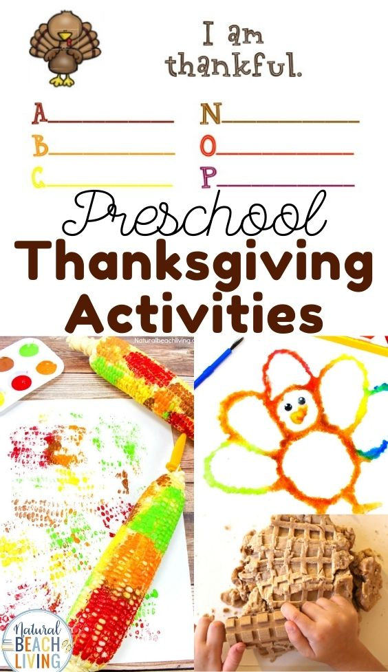 These fun Thanksgiving and Turkey Activities are a fun way to work on literacy, math, gross and fine motor skills, Preschool STEM, and so much more.  Perfect for a Thanksgiving theme. Great for toddlers, preschool, and kindergarten!