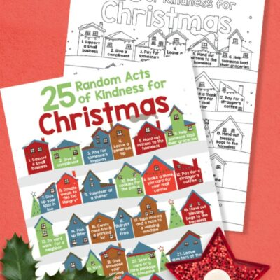25 Random Acts of Kindness for Christmas – Free Kindness Coloring Pages