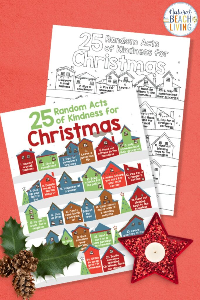 25 Random Acts Of Kindness For Christmas - Free Kindness Coloring Pages -  Natural Beach Living