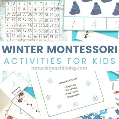 Winter Montessori Activities and Winter Lesson Plans for Preschool and Kindergarten