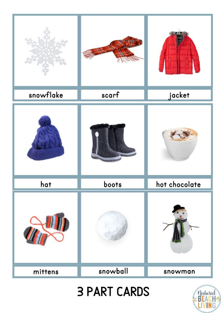 Add these Winter Montessori Activities to your day to bring hands on learning with a Winter theme. Perfect for toddlers, preschoolers, kindergarten and early elementary. With Winter literacy activities, fine motor activities, number recognition, preschool and kindergarten math activities, and so much more. Also includes Movement Activities, Montessori Preschool Activities and Winter Montessori 3 Part Cards