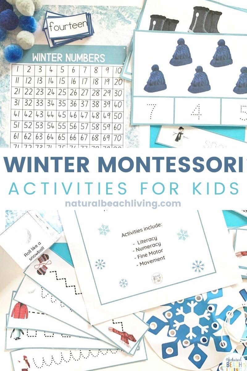 Winter Montessori Activities and Winter Lesson Plans for Preschool and Kindergarten