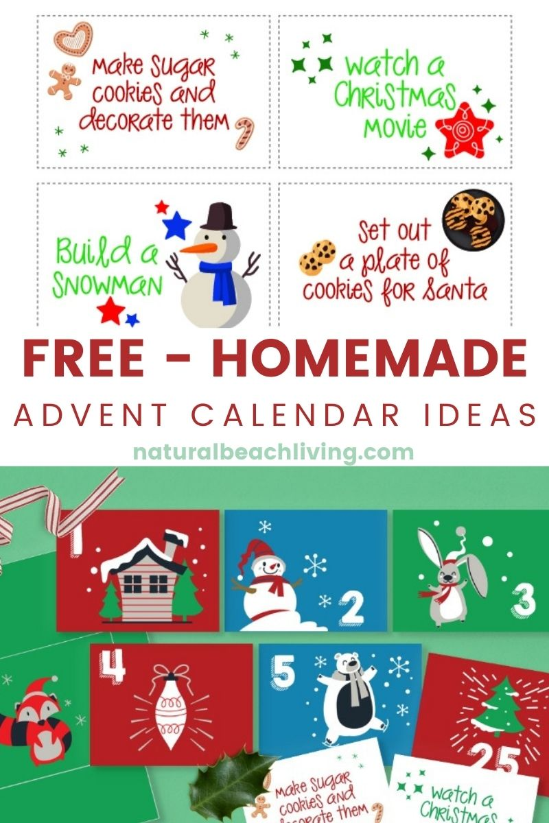 Christmas Advent Envelopes and Notes for a Free Christmas Countdown Calendar