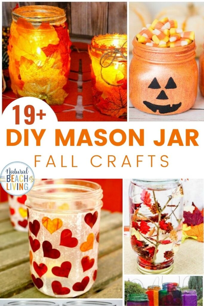 19+ Mason Jar Crafts for Fall, Mason Jar Crafts DIY, Halloween Mason Jar crafts and Mason Jar Crafts for Kids, TheseEasy Fall Crafts and DIY Fall Decor are just what your house needs to bring in the lovely season. Add a little Fall MasonJar Centerpiece to your craft list this year.
