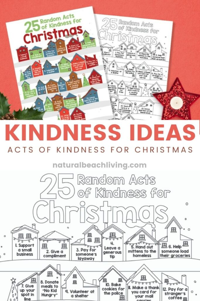 25 Kindness Ideas Challenge, I Love Challenges and Christmas Kindness is The Best so why not put the two things together this year for a 25 Day Countdown to Christmas Movie Challenge, They will bring comfort and cheer all month long. Grab this Free Kindness list challenge here