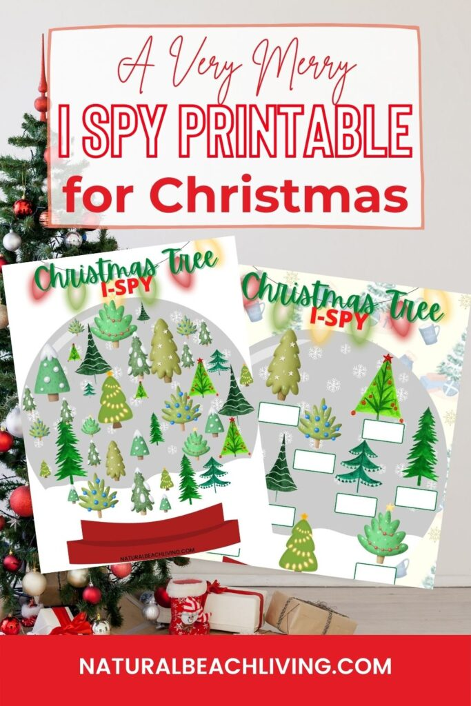 Your kids will love these Christmas I Spy Printables! Free fun and simple Christmas I Spy Game that combines logic, visual skills, and math skills for early learning, it's no wonder that this Christmas activity is such a big hit!