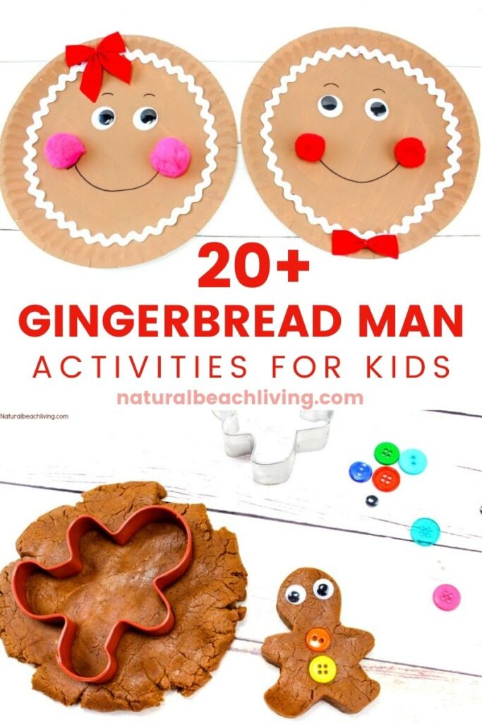 This Gingerbread Theme is perfect for Kindergarten, Preschool, and all early learning. The Best Gingerbread Activities for Literacy, math, STEM, printables, books, Gingerbread slime, Gingerbread playdough, other sensory activities, and more to make learning fun!, Gingerbread Man Activities for Early Years, and Christmas Crafts for Kids